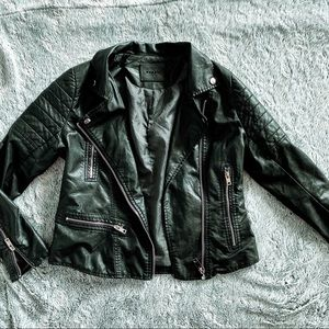 Blank NYC Black Faux Leather Moto Jacket